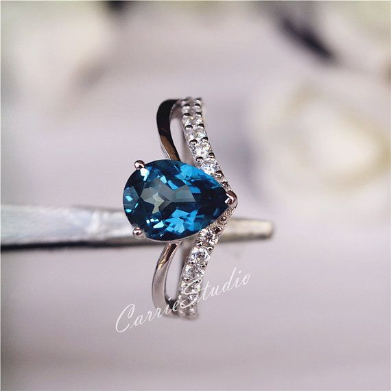 Gorgeous 79mm Genuine Natural London Blue Topaz by CarrieStudio