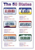 The 50 States License Plates Completed Version State License