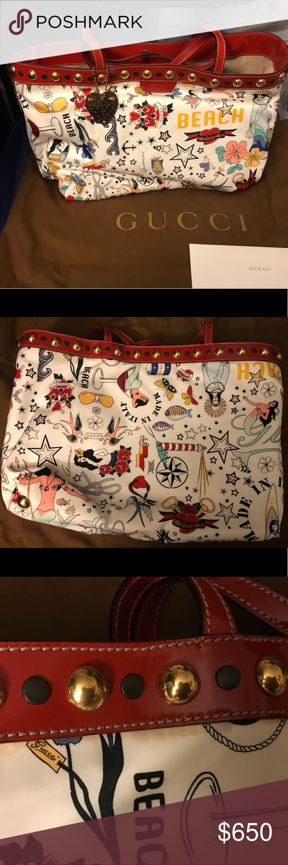 """801f8ba47f38 Gucci """"Babouska"""" Large Tote I bought this a few years ago and have only"""