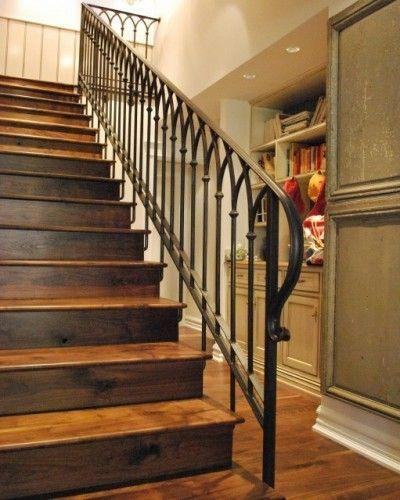 I Love This Gothic Iron Stair Rail Stair Railing Design