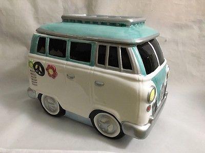 Lotus Vw Bus Cookie Jar 1997 Hippie Van