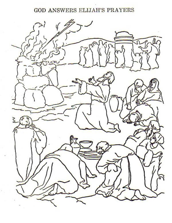 Elijah God Anwer Elijah Prayers Coloring Pages God Anwer Elijah