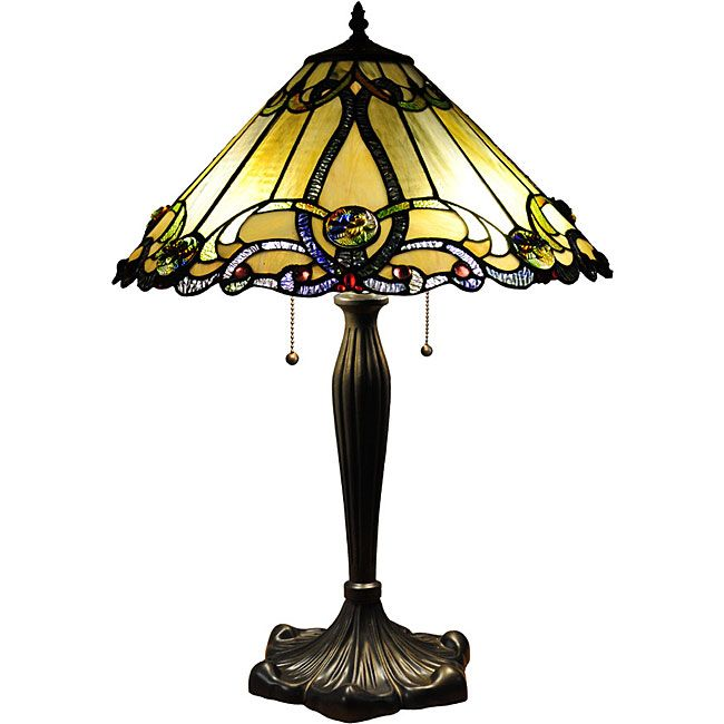 Captivating Tiffany Style Victorian Table Lamp