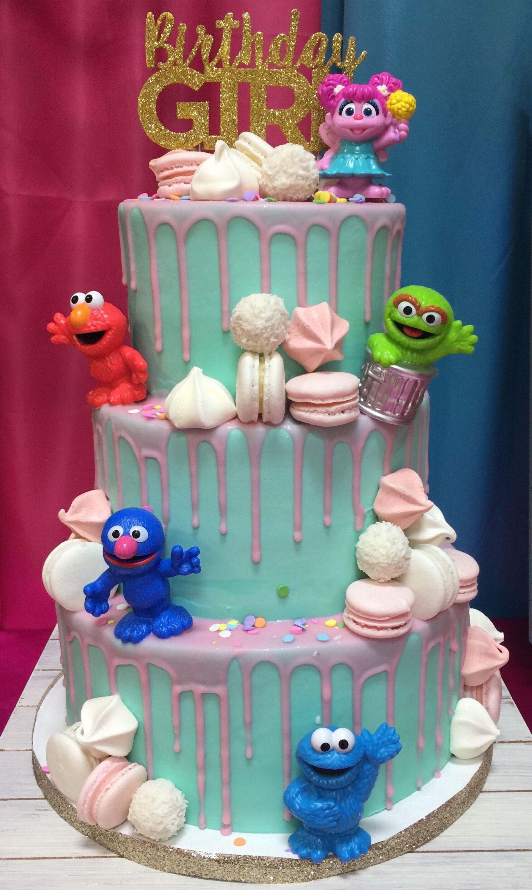 Girly Sesame Street Birthday Cake With Images Sesame Street