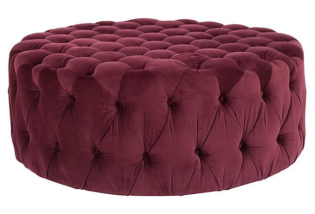 Ceylon Ottoman, Plum on OneKingsLane.com | Furniture Old and New ...