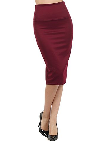 Burgundy Bombshell Hobble Skirt $30.00 AT vintagedancer.com