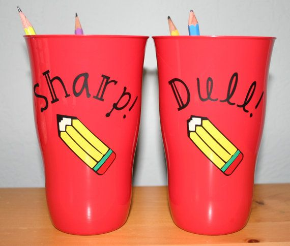 Pencil Cups! These are great for classroom organization! Buy them for your classroom or give them as a gift to that awesome teacher!  {ITEM DETAILS} >6