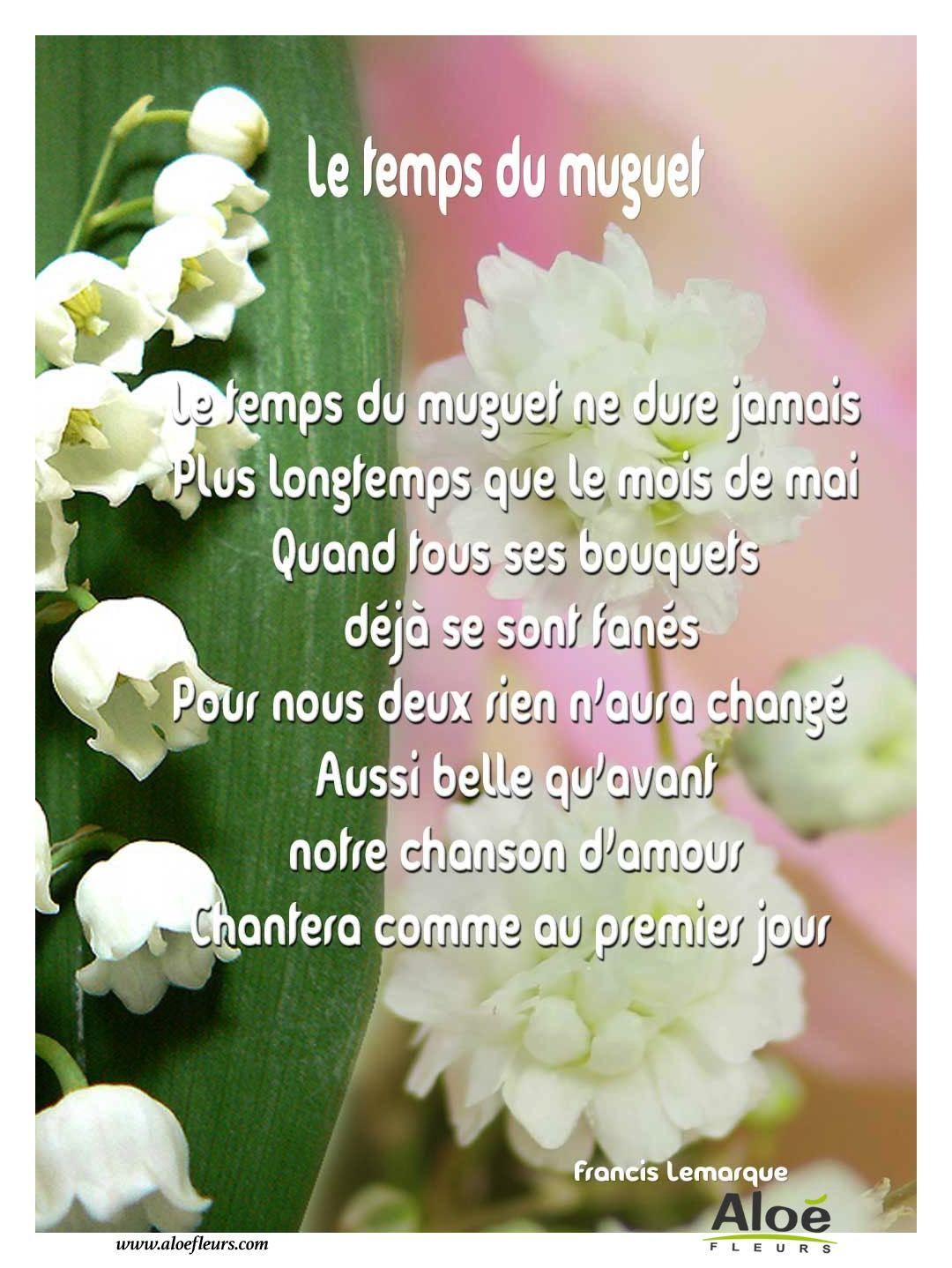 1er mai po me le temps du muguet 2 po mes du 1er mai et du muguet pinterest bonheur - Poeme coccinelle porte bonheur ...