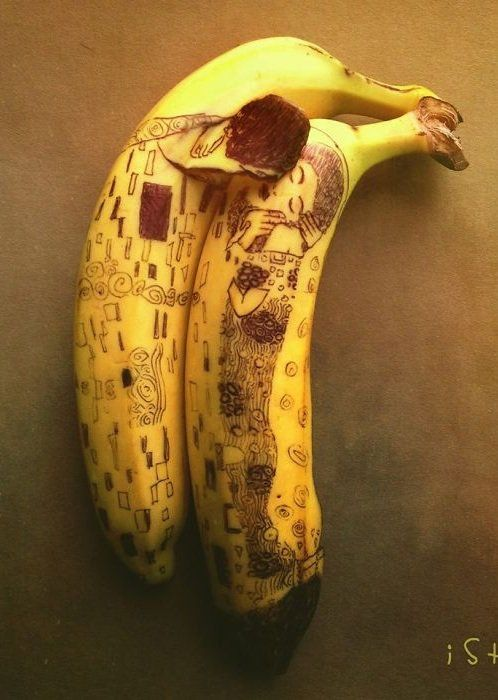 Cool Banana Art Funny Carvings Performed On Banana Skin