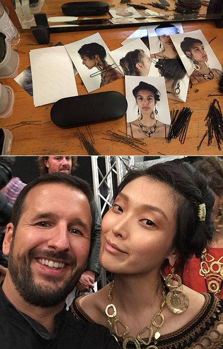 Hinter den Kulissen: Haarstyling bei der Fashion Show