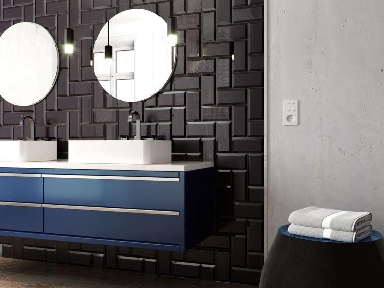 3 revestimientos para el baño | Espejo redondo para baño ...