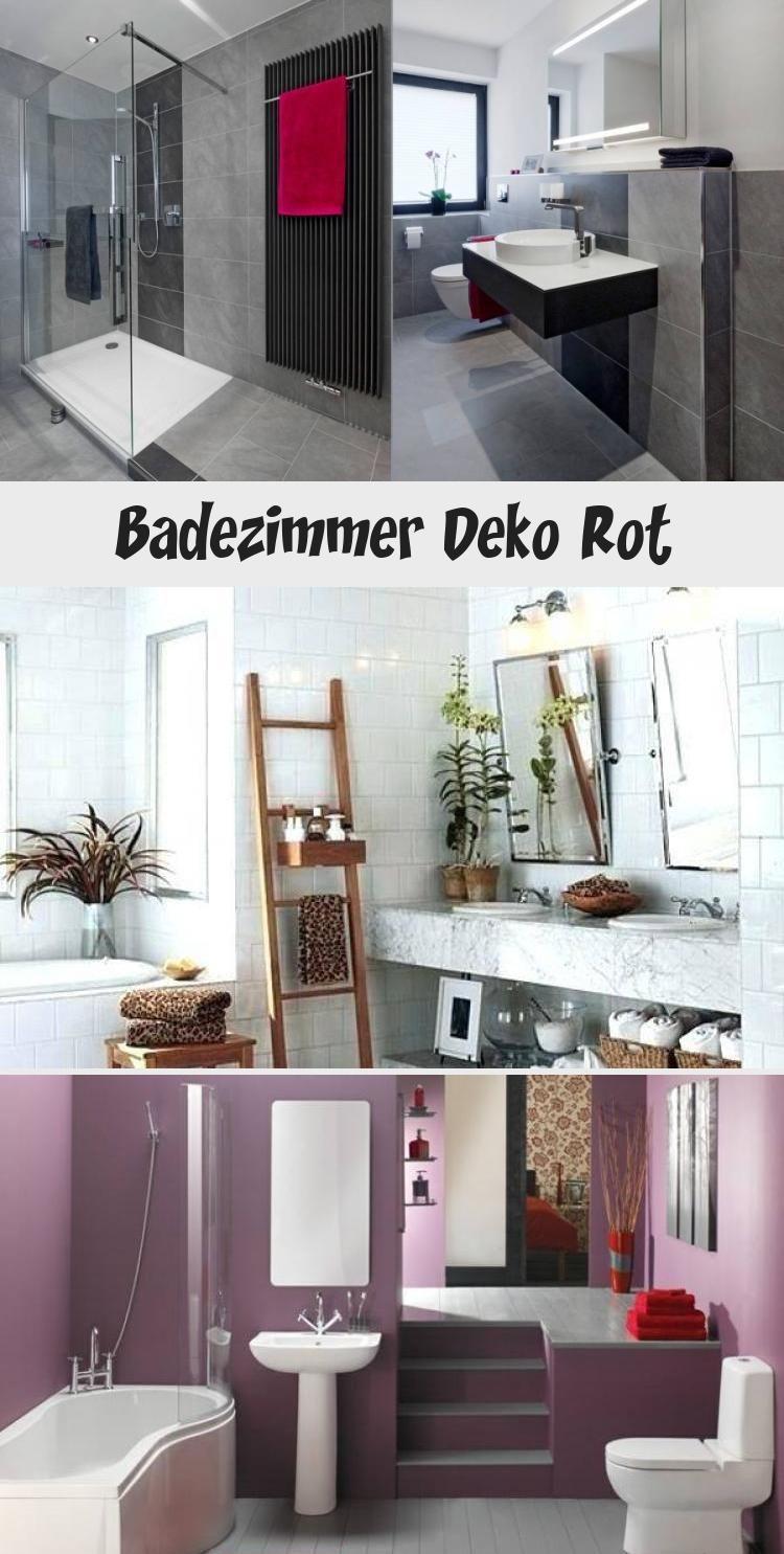 Badezimmer Dekoration Rot