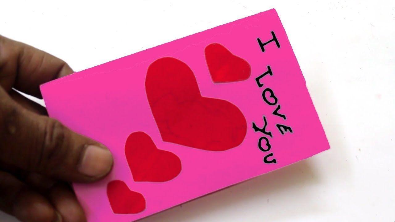 Handmade Valentine 39 S Day Card Diy 39 I Love You 39 Pop Up Heart Love Card Tutorial Pop Up Card Templates Stampin Up Valentine Cards Valentines Cards