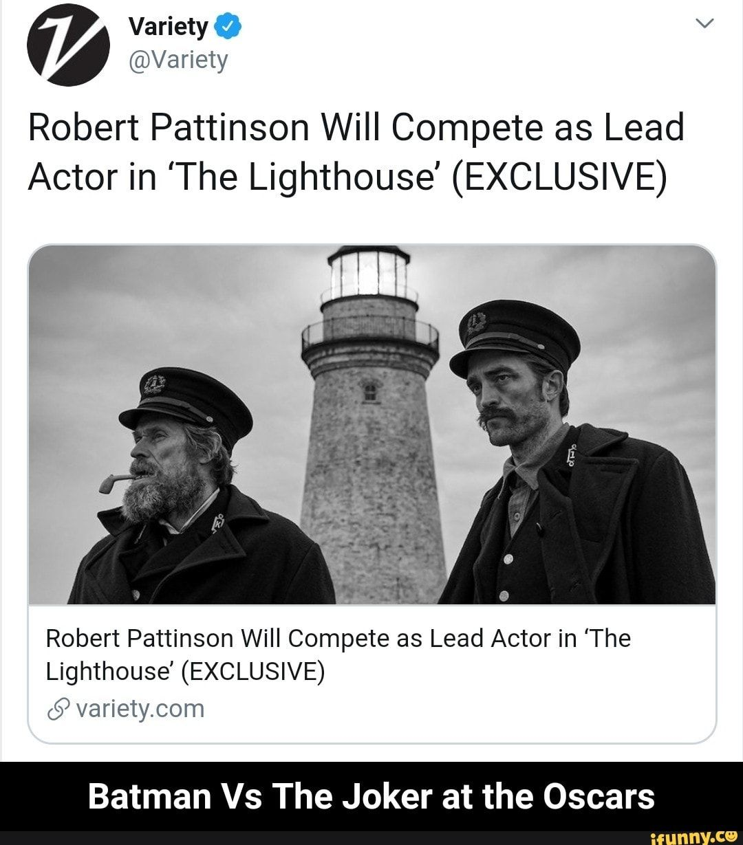 Robert Pattinson Will Compete as Lead Actor in 'The