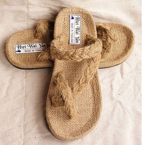 abfcf0de1c2c4 mens-hemp-sandals-slippers-designer-hand-woven-straw-flip-flops-Thailand -hemp25