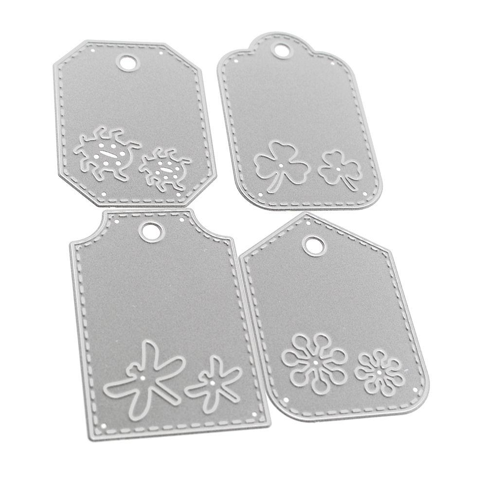 4pcs Flower Cutting Dies Stencil DIY Scrapbook Embossing Card Paper Decor Craft
