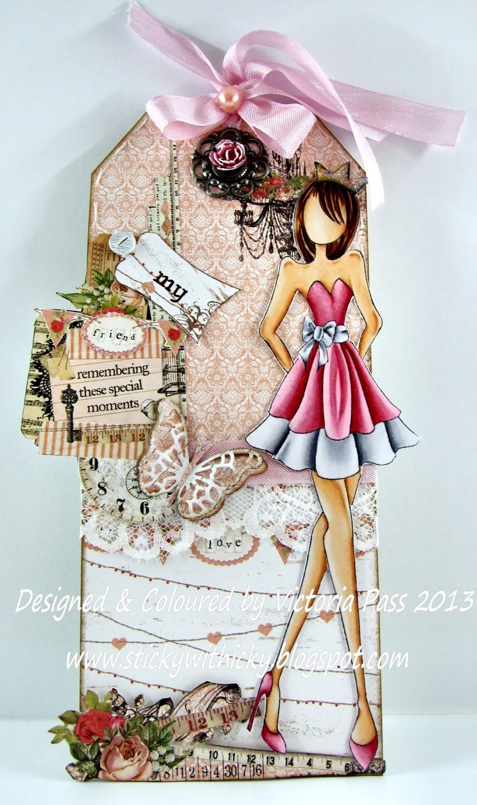 'Prima Doll 3' & I've used a 'Prima Tag' & decorated it, these tags ...