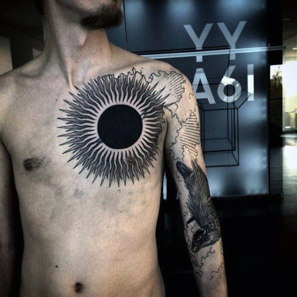70 sun tattoo designs for men a symbol of truth and light tattoo tatting and tattoo designs. Black Bedroom Furniture Sets. Home Design Ideas