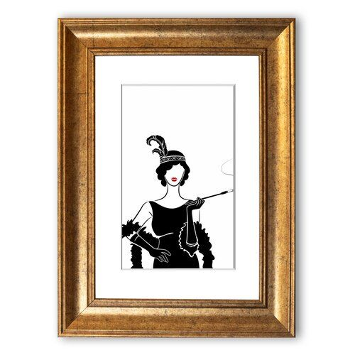 Photo of East Urban Home Framed Poster Woman from the 1920s | Wayfair.de