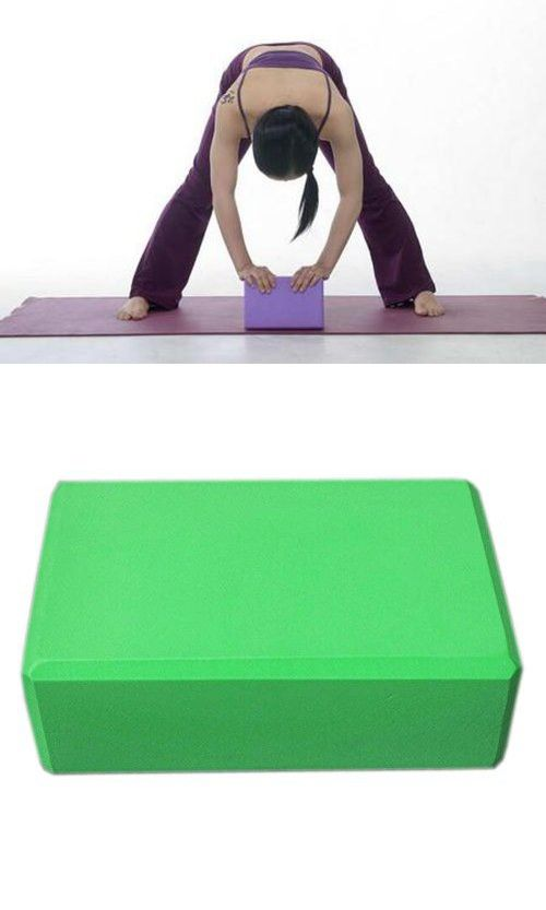 Pilate Accessories Extremely Durable Yoga Foam Blocks/ Yoga Cork Bricks Green