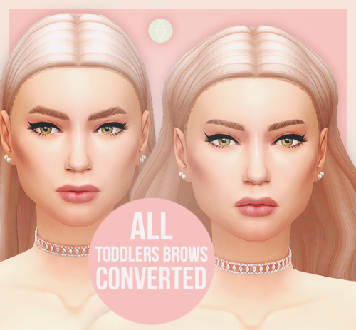 ALL TODDLERS BROWS CONVERTED FOR ADULTSI don't know why, but