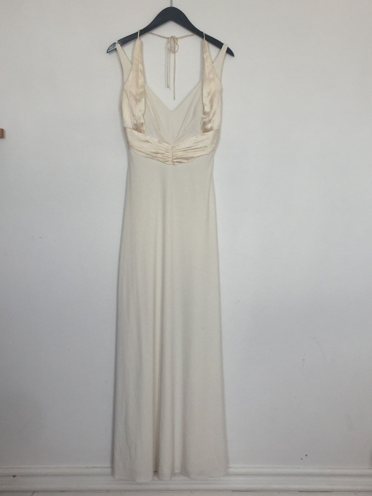 Michaelangelo wedding dress    Davids Bridal Galina Wedding Dress Gown Column Halter