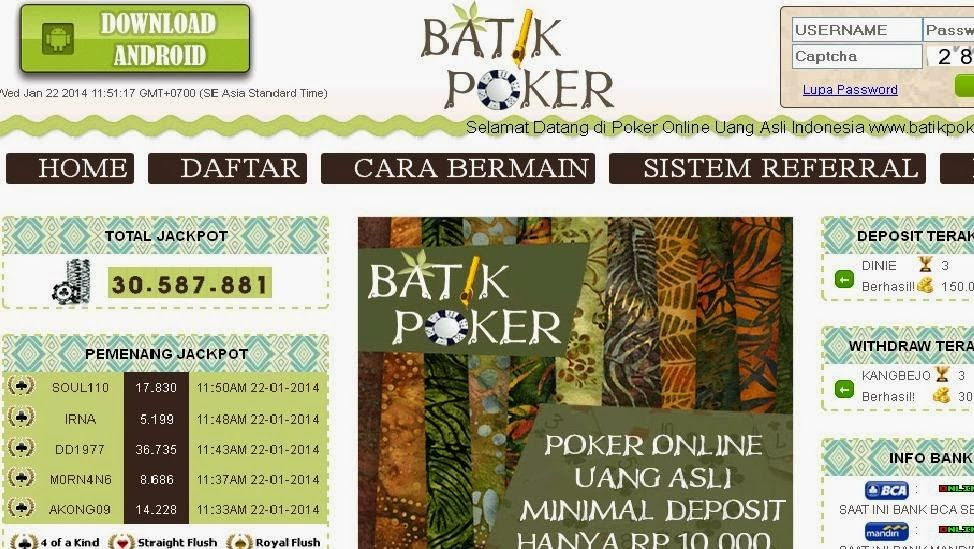 Batik poker online how to use a spinning wheel