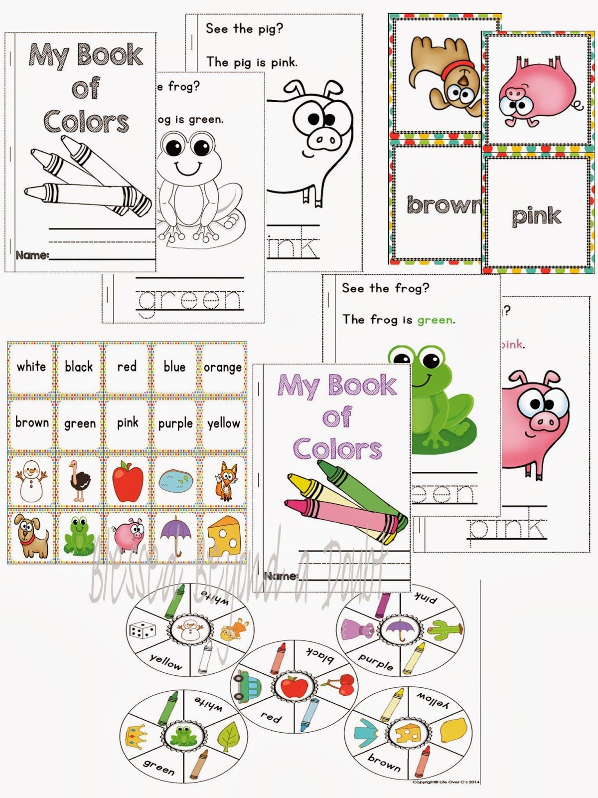 Free Preschool Kindergarten Color Recognition Pack And