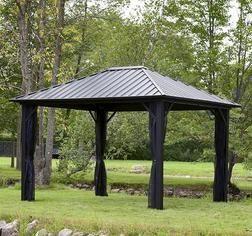Backyard Creations® 10u0027 X 12u0027 Steel Roof Gazebo From Menards $999.00