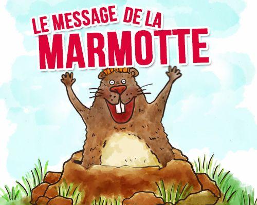 Le Message De La Marmotte Carte Bonne Fete Animee Tous Mes Voeux