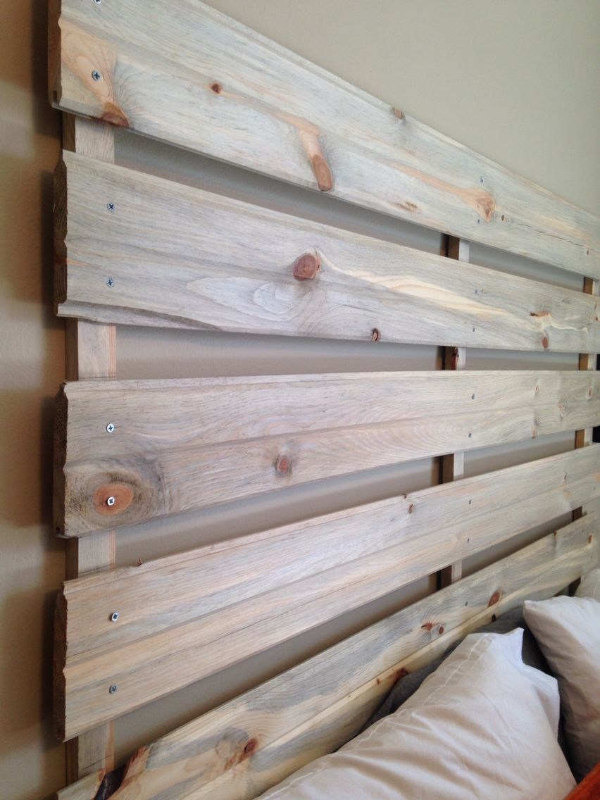 Beetle-stained pine headboard $25 for wood and screws from Home ...