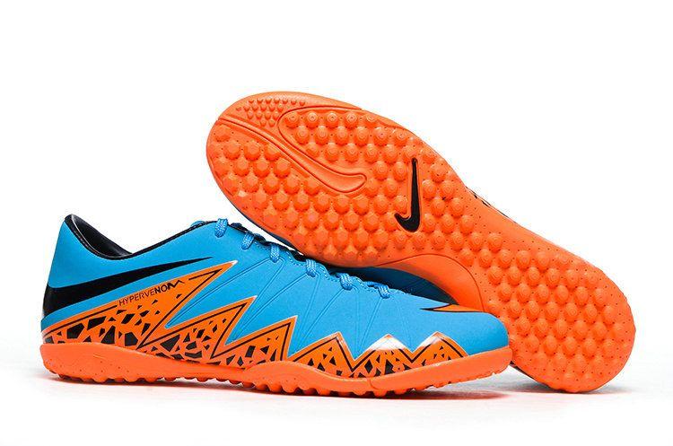 Nike Hypervenom Phantom II Turf Soccer Shoes 2015(Blue Orange Black)