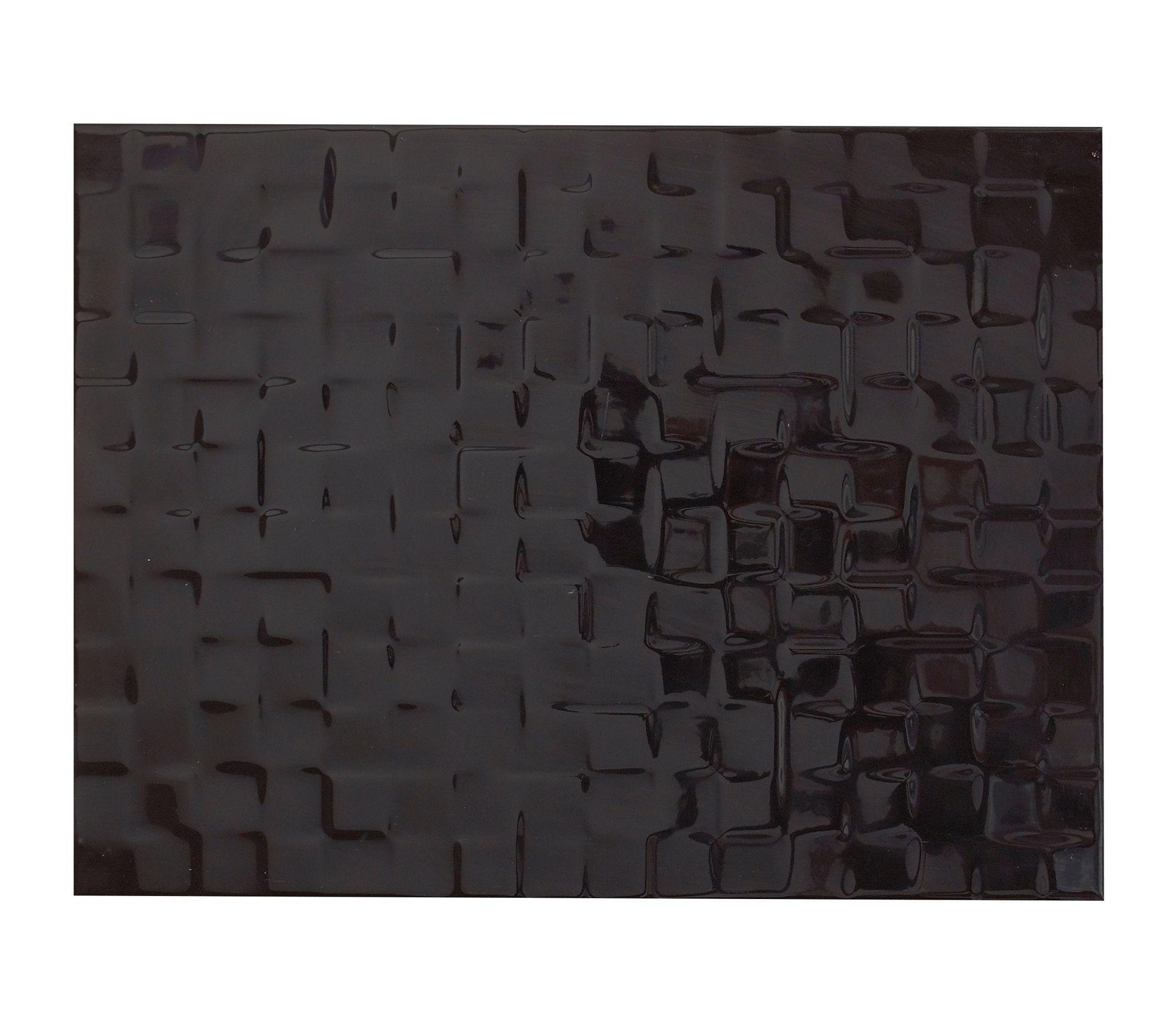 Designer Black Ceramic Wall Tile Pack Of 8 L 300mm W 400mm