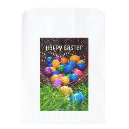 Happy easter egg hunt basket photo favor bag favor bags and favors negle Choice Image