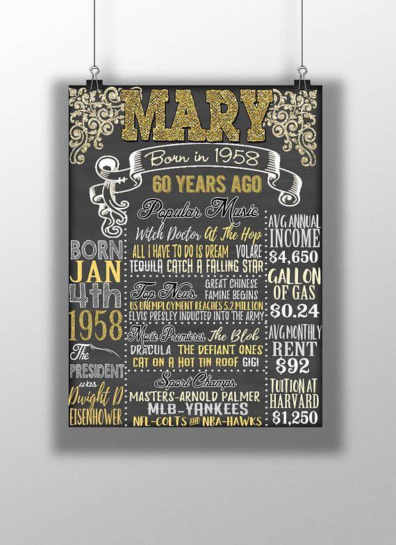 1958 Birthday Board Things Happening 60 Years Ago 60th
