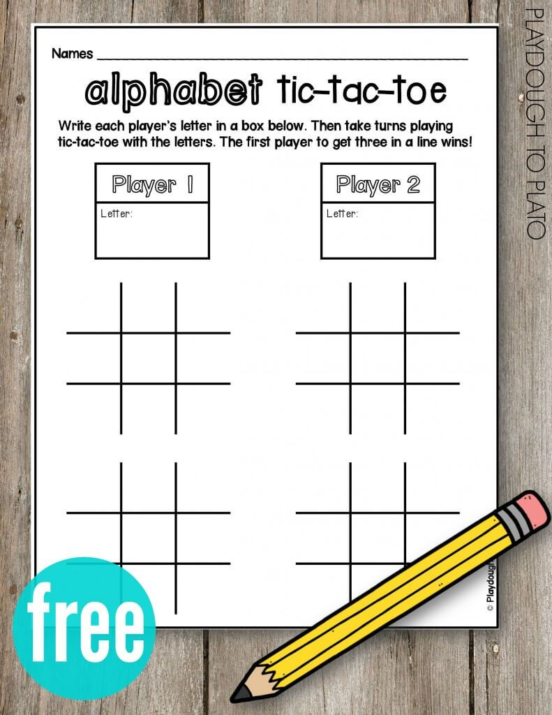 Best Alphabet and Sight Word Tic-Tac-Toe - Best Teaching Letters Inside Tic Tac Toe Template Word