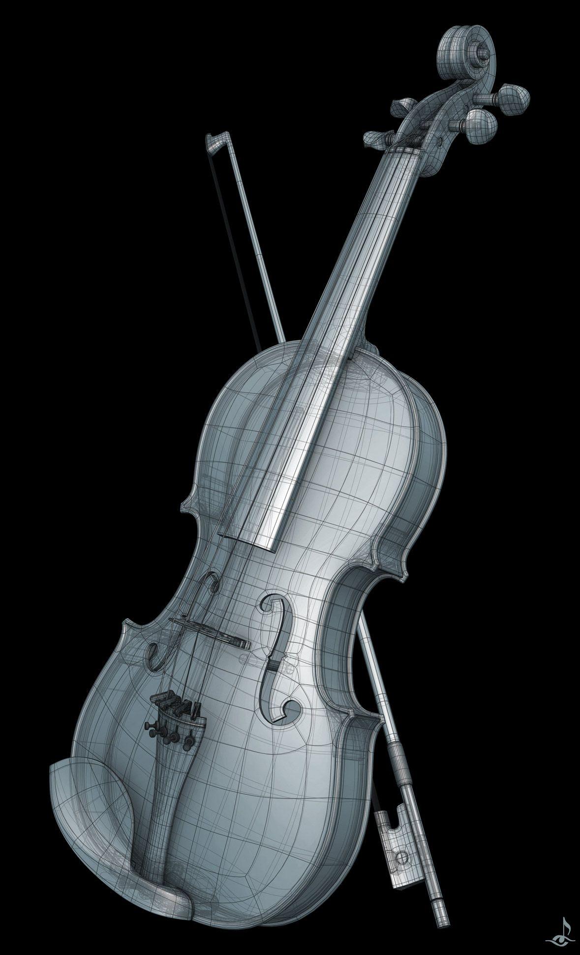 Violin Topology by johnstrieder on deviantart