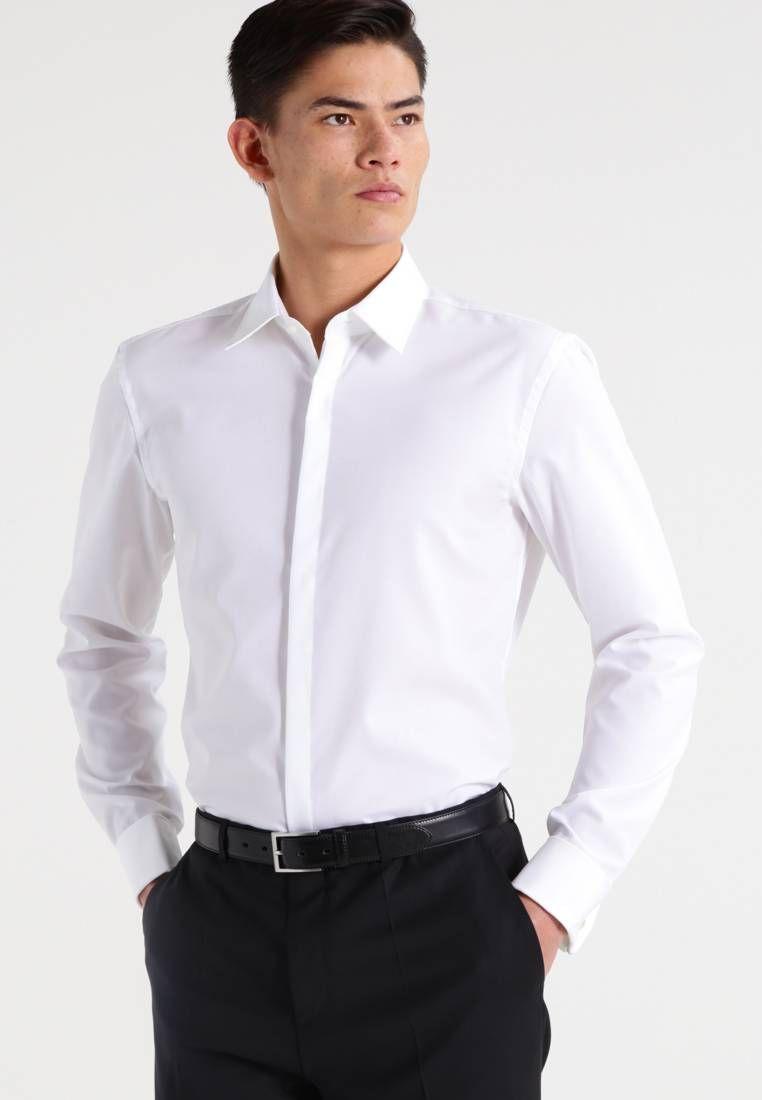 HUGO JACQUES SLIM FIT - Camisa de traje - open white DG1OdDT