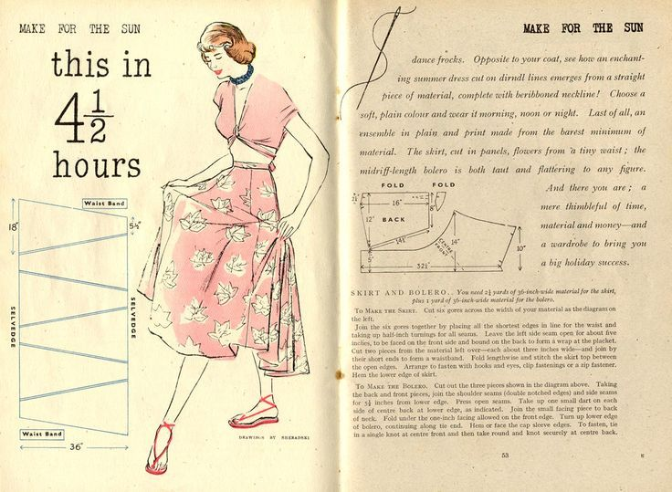 diy skirt & bolero from Woman & Beauty July 1948   Nähen   Pinterest ...