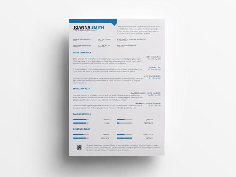 Free marketing specialist resume template free resume