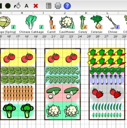 Square-foot gardening tool! This software is pretty cool ...