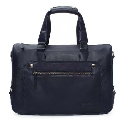 Brune Blue Leather Office Briefcase Online At Rs 9 999