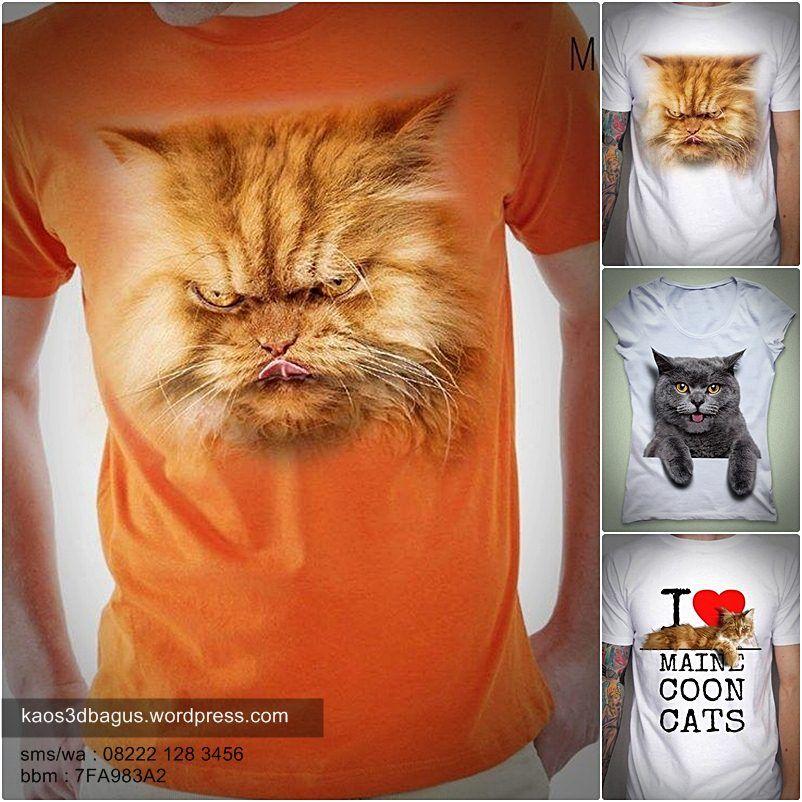 Kaos KUCING Gambar dan Kucing lucu
