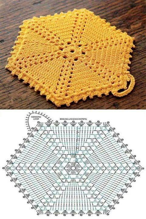 Free Crochet Potholder Patterns | Häkeln, Topflappen häkeln und ...
