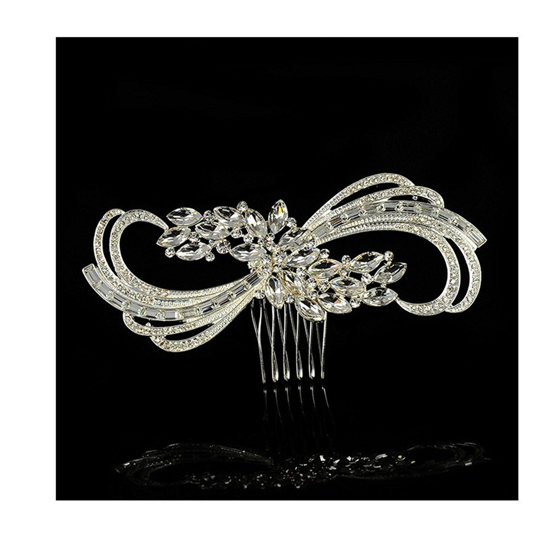 pearl crystal rhinestone wedding bridal hair comb headpieces