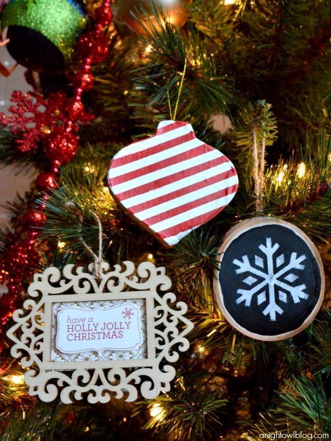 easy handmade Christmas ornament ideas made with #MarthaStewartCrafts!  #12MonthsofMartha - Easy Christmas Ornament Ideas With Martha Stewart Crafts Holiday