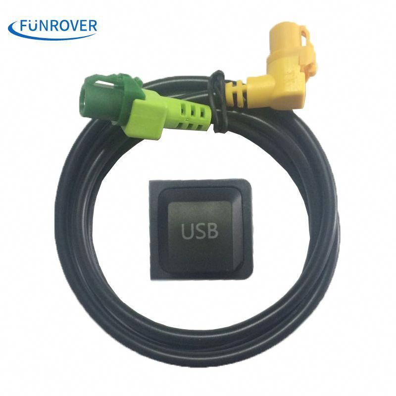 FUNROVER Car USB Cable Adapter & Switch for Volkswagen RCD510 RNS315