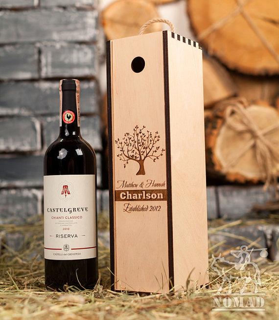 Wine Box Wedding Wine Box Custom Wine Box Wine Box Ceremony Time