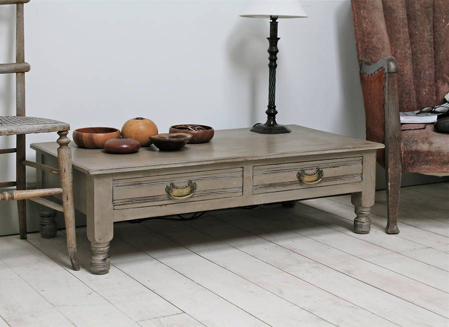 Unique Coffee Table Vintage Between Two Distressed Chairs Jpg 900 655