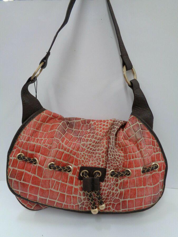 Ladies red//beige//brown  bulaggi bag 24411